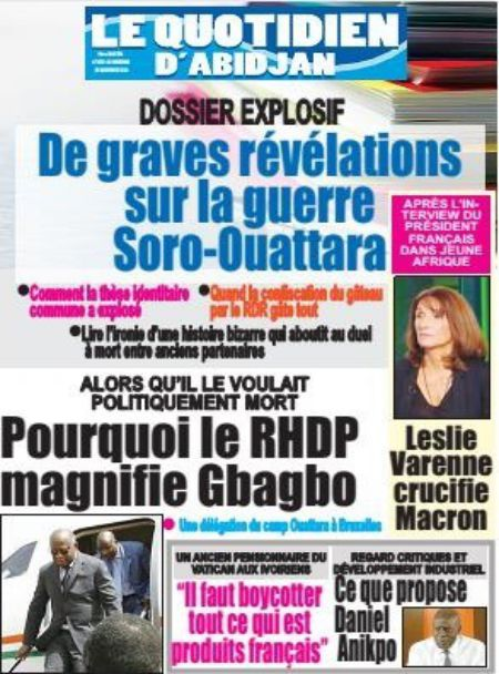 Titrologie du 25 novembre 2020 de Le Quotidien d'Abidjan - Titrologue