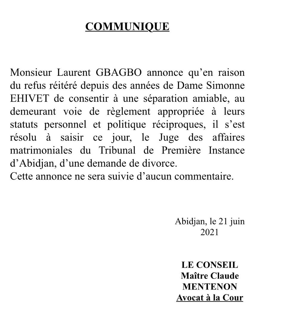 WhatsApp%20Image%202021 06 21%20at%2015.09.34 Abidjan : Laurent Gbagbo demande officiellement le divorce à Simone Gbagbo